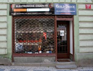 Elektronická cigareta prodejna Gold Drive, Prokopova 13, Praha 3